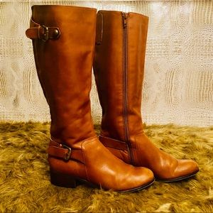 CORSO COMO Brown Leather Riding Boot Womens Size5M